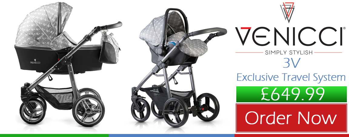 Buy Venicci Travel System 3V Exclusive online at the best price. Venicci Travel System 3V Exclusive Bed UK & ROI delivery. Payment plans. Online baby pram store UK.