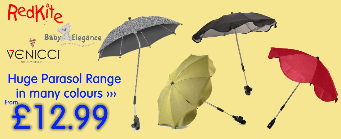 buy online parasol for pram, stroller, pushchair at the best price. uK and ROI delivery. Payment plans available.
