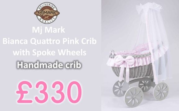 Buy Mj Mark handmade crib Bianca online at the best price. handmade crib sale UK & ROI delivery. Payment plans. Online baby pram store UK.