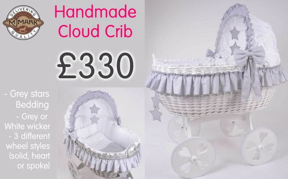Buy online at the best price baby crib mj mark cloud crib grey stars at Kids Store. Payment plans available. Free UK and ROI shipping.