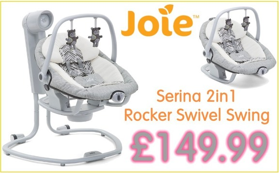 Buy joie serina bouncer rocker swing at Kids Store. Payment plans available. Free UK and ROI shipping.