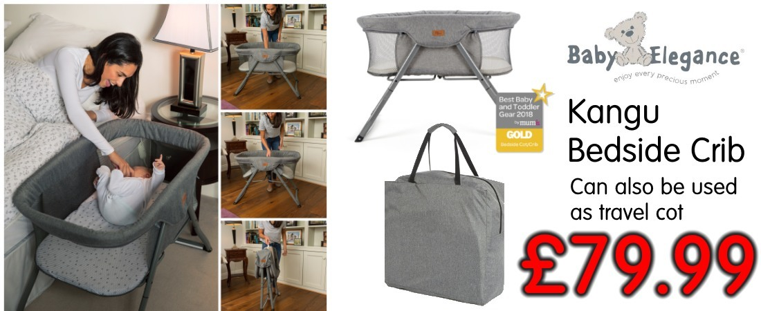 buy now online at the best price baby elegance kangu bedside crib foldable travel cot. kangu crib uk and roi delivery