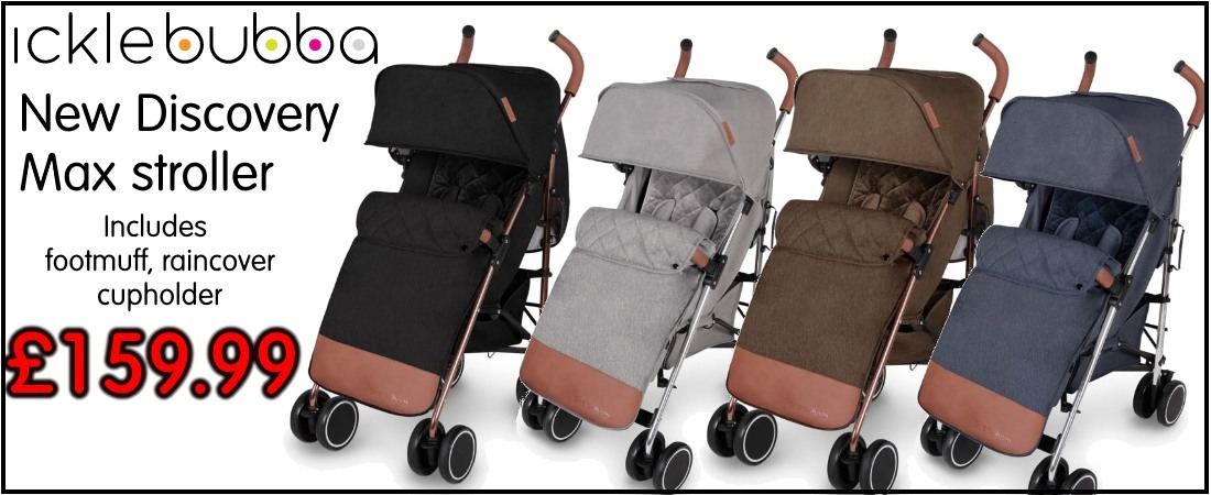 buy now online ickle bubba discovery max stroller pushchairs. ickle bubba stroller uk and roi delivery